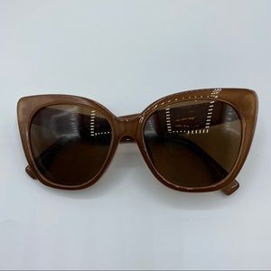 Luxe Brown Cat Eye Sunglasses
